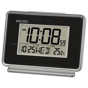 Desk Alarm Clock Seiko Clocks Lcd Thermometer Desk Alarm Clock Qhl068k