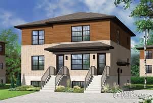 Eplans Colonial House Plan zen contemporain duplex triplex w3045 maison
