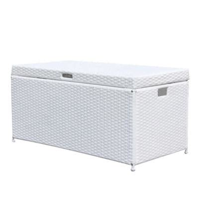 jeco white wicker patio furniture storage deck box ori003