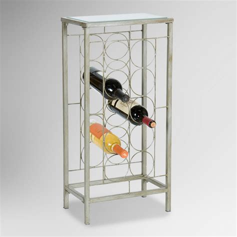 lowell 10 bottle wine rack world market