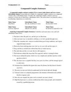 simple complex compound sentences worksheet abitlikethis