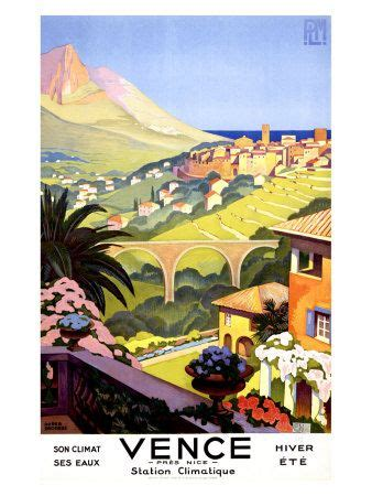 vintage giclee print and european travel on