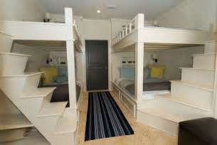 Bunk bed steps cottage boy s room rice construction group