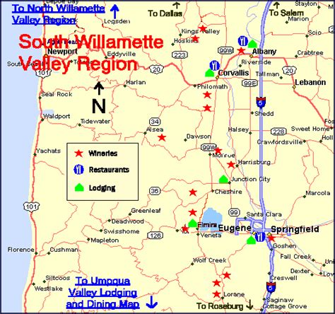 map of oregon wine country maps oregon wine country lodging dining suggestions for