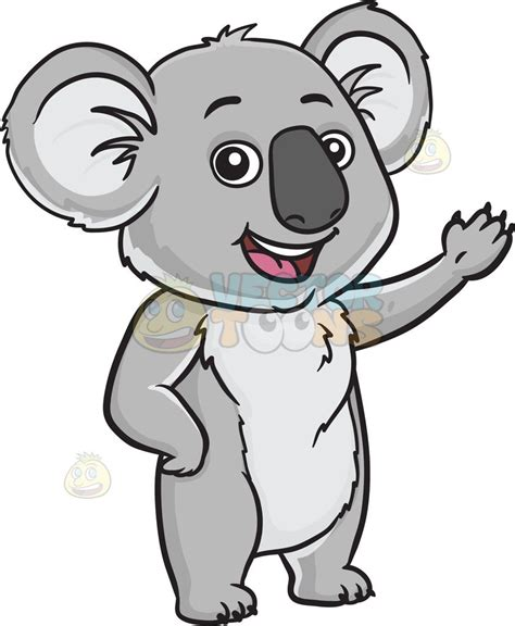 koala clipart a friendly koala clipart vector