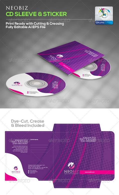 15 Creative Cd And Dvd Sleeve And Sticker Template Designs Cd Sleeve Design Template