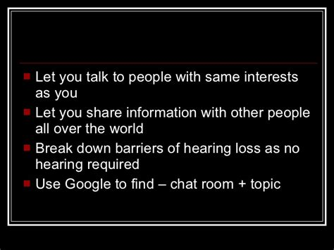 text based chat rooms technologies hearing loss chatrooms