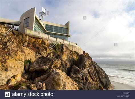 cliff house menu cliff house restaurant overlooks the pacific ocean in san francisco stock photo