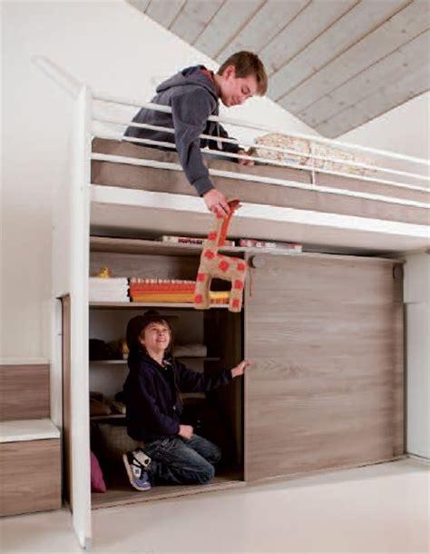 letto con armadio sotto cameretta e armadio scorrevole tutto in uno