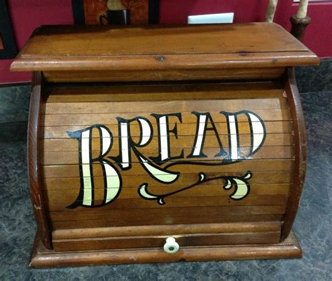 1980 roll top vintage bread box 1980 s old wood roll top farmhouse decor