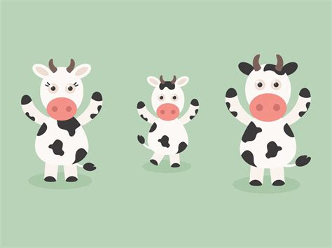 free vector free vector cow set vector graphics
