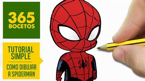 imagenes de spiderman para dibujar faciles como dibujar a spiderman kawaii paso a paso dibujar