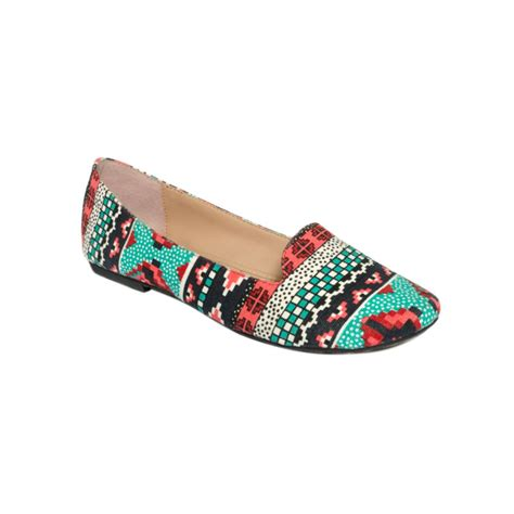 betsey johnson flat shoes betsey johnson brritney flats in multicolor aztec