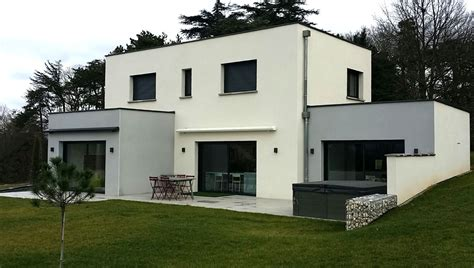 Maison Avec Terrasse Sur Le Toit by Maison Contemporaine Avec Toiture Terrasse Dans Le Rh 244 Ne