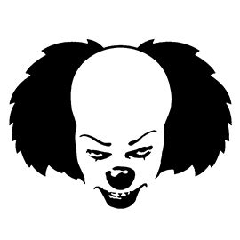 printable pumpkin stencils pennywise it pennywise the clown stencil free stencil gallery