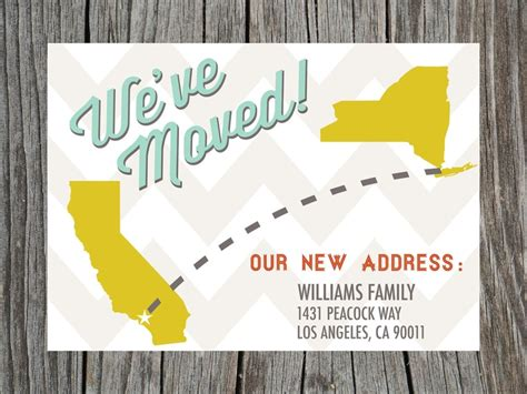 free printable moving postcards moving announcement change of address card free printable
