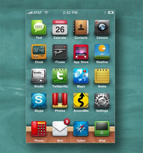 Chalkboard And Eraser Cell Phone by 25 Absolutely Free Beautiful Ios Iphone App Icons