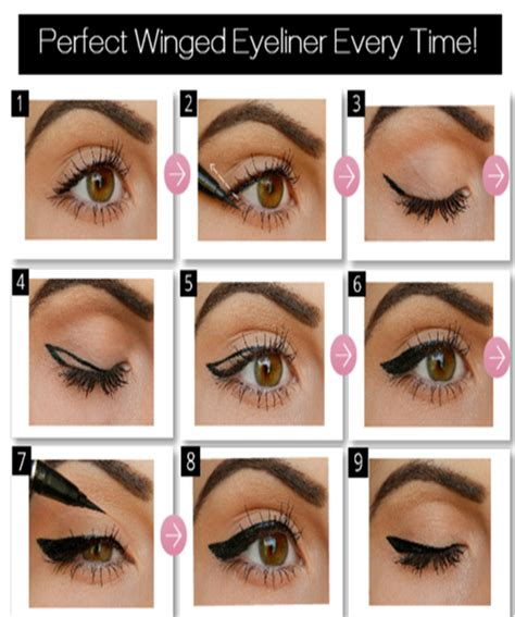 eyeliner tutorial with tape perfect winged liner tutorial missteenadvice