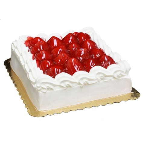 artisan fresh single layer fresh strawberry cake the