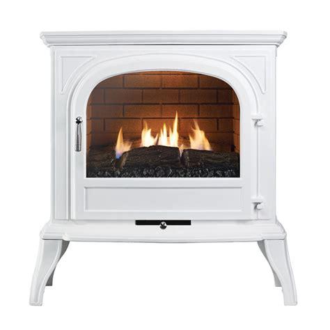 ekofires 6010 flueless gas stove in white with plain door