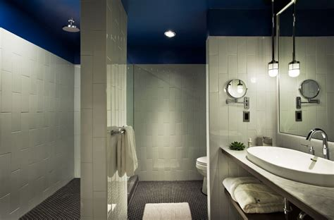 Blue Bathroom Ceiling by Wish We Were Here Thompson Chicago Monday Design Daydream Lonny