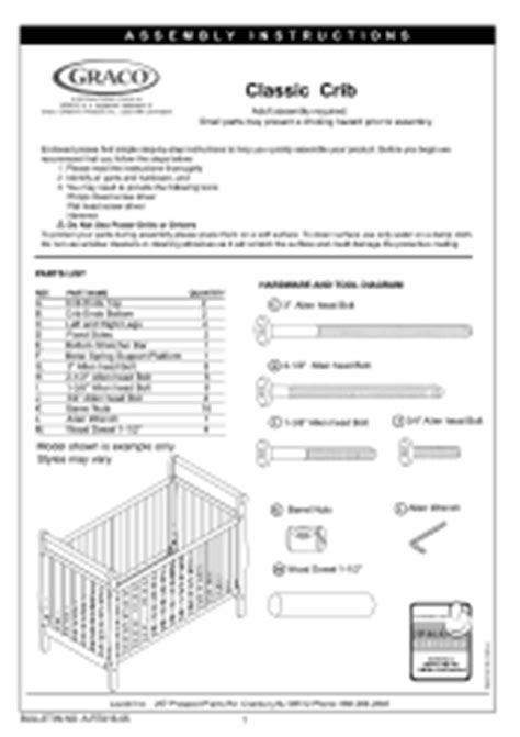 Graco 3281642 043 Ashleigh Classic Crib Manual Graco Convertible Crib Manual