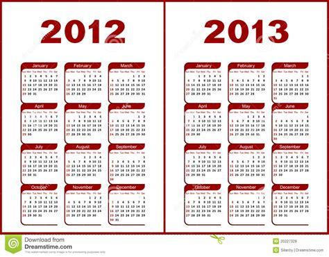 Calendario Escolar Ist 2014 Kalender 2012 2013 Lizenzfreie Stockfotos Bild 20227328