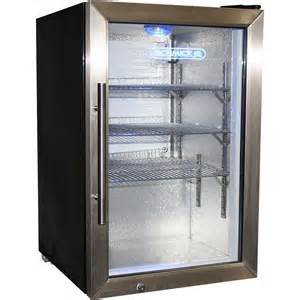 Glass Door Compact Refrigerator Glass Door Tropical Fridge Compact 68 Litre With Lock