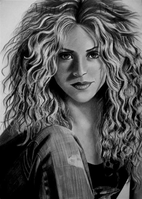 shakira drawing shakira by angelasportraits on deviantart