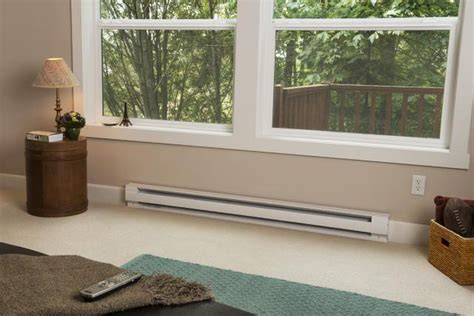 size  electric baseboard room heater