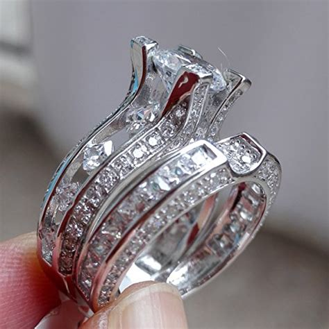 newshe jewellery 3ct cz 925 sterling silver wedding