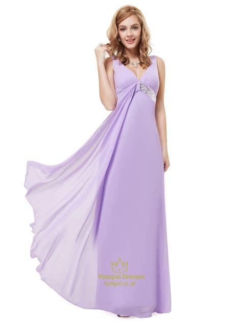 dresses for lilac v neck empire sleeveless bridesmaid dresses with
