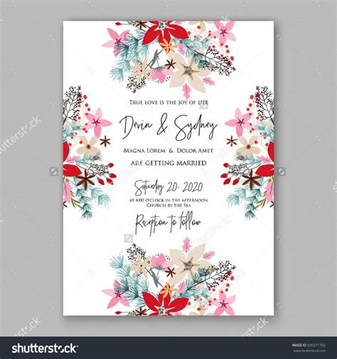 wedding invitation card suite with flower templates wedding invitation card template with winter bridal