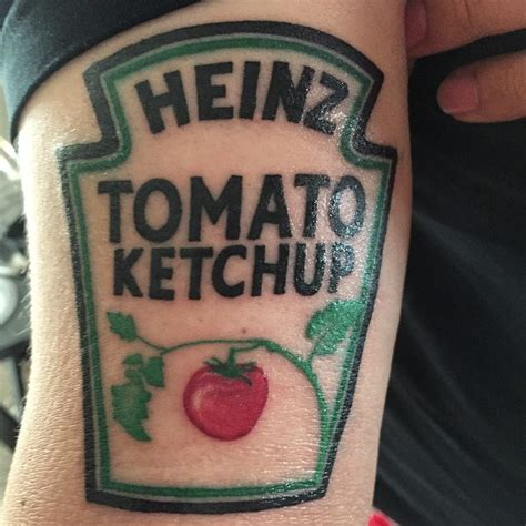 colored ketchup colored heinz ketchup label traditionally colored