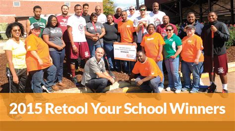 the 2015 home depot retool your school winners