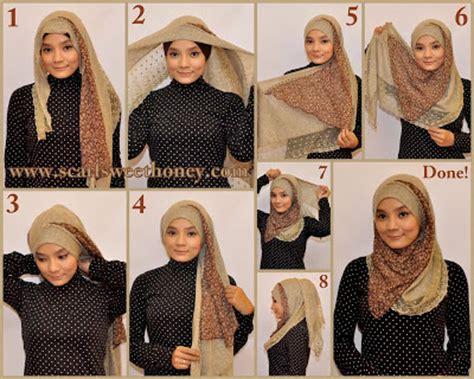 tips cara memakai jilbab pesta simple modern cantik cara memakai jilbab hijab kreasi modis modern cantik