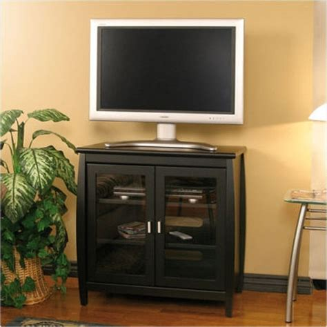 32 Inch Tv Cabinet by Tech Craft Veneto Series Rounded Wood Tv Stand For 26 32