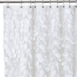 Bed Bath And Beyond Bathroom Decor Gigi Fabric Shower Curtain White Contemporary Shower