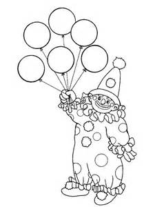 the clown has six balloon coloring page the clown has six