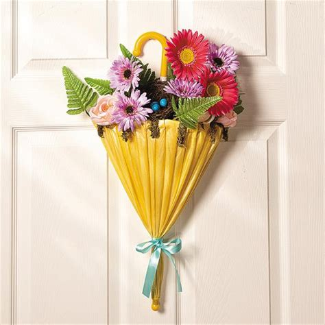 Floral Door Decorations by Diy Umbrella And Flowers Door Wreaths For Diy And