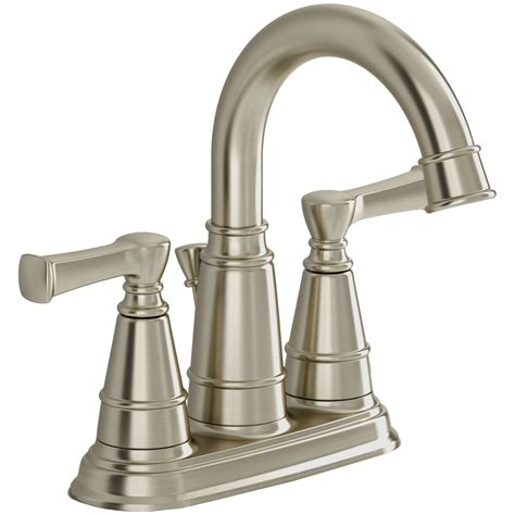 watersense kitchen faucet shop american standard thayer satin nickel 2 handle 4 in