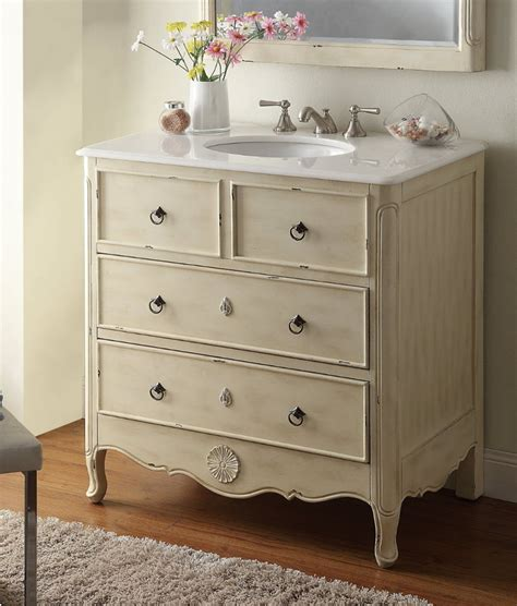 Distressed Bathroom Vanities daleville 34 inch vanity hf081wp distressed