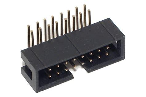 2x8 Pin Header 16p shrouded pin header angle 2x8 r2 54 partco verkkokauppa