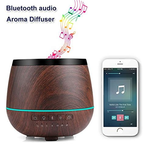 Bluetooth Stereo Speaker Humidifier Aroma Diffuser 7 Color Led L Bluetooth Speaker Diffuser Villamlas Best Store