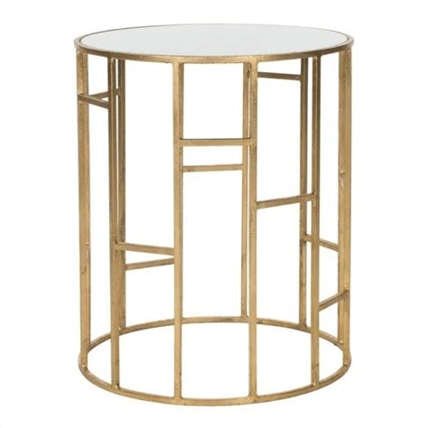 iron accent table safavieh doreen iron and glass accent table in gold and