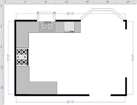 free kitchen floor plans how to draw a floor plan with smartdraw