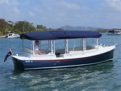 house boat noosa another electric boat launches in noosa eco boats australia