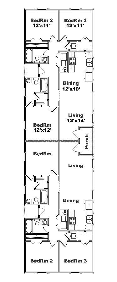 Narrow Lot Duplex House Plans by Narrow Duplex Plans Search Projects To Try