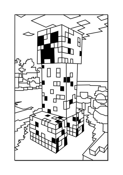 minecraft coloring pages games minecraft coloring pages minecraft creeper johnnys 7th