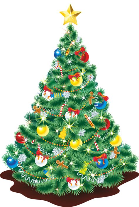 free realistic christmas tree clip art